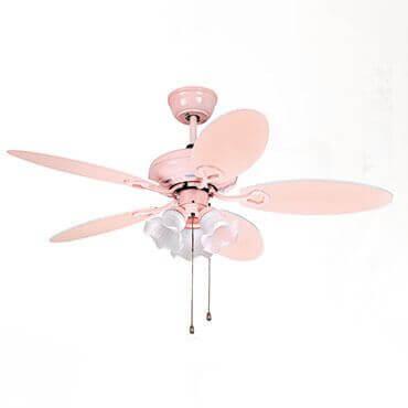 Quạt trần đèn trang trí màu hồng baby FGF028