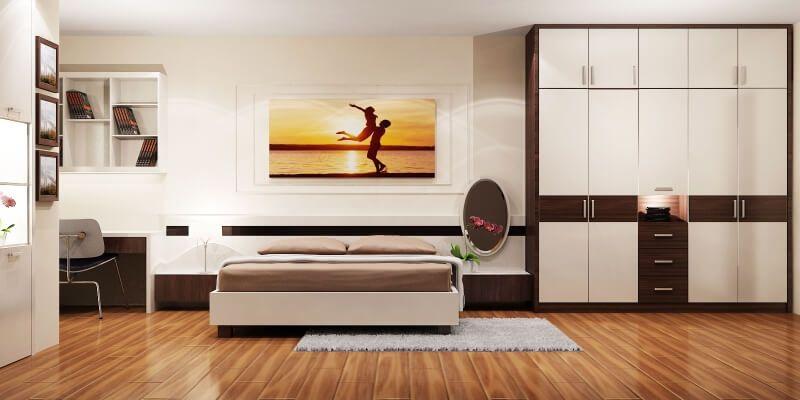 Hướng dẫn cách đặt tủ quần áo trong phòng ngủ đúng phong thủy