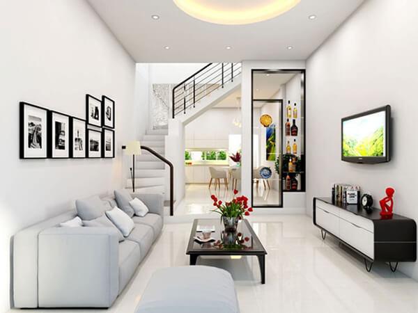 15 mẫu thiết kế nội thất phòng khách nhà ống ấn tượng, bạn khó lòng bỏ qua được