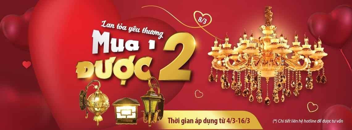 8/3 lan tỏa yêu thương: mua 1 được 2 hấp dẫn tại Vương Quốc Đèn