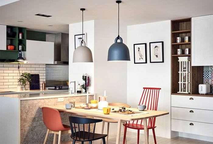 【CHIA SẺ】15 mẫu đèn thả bàn ăn cho chung cư siêu đẹp