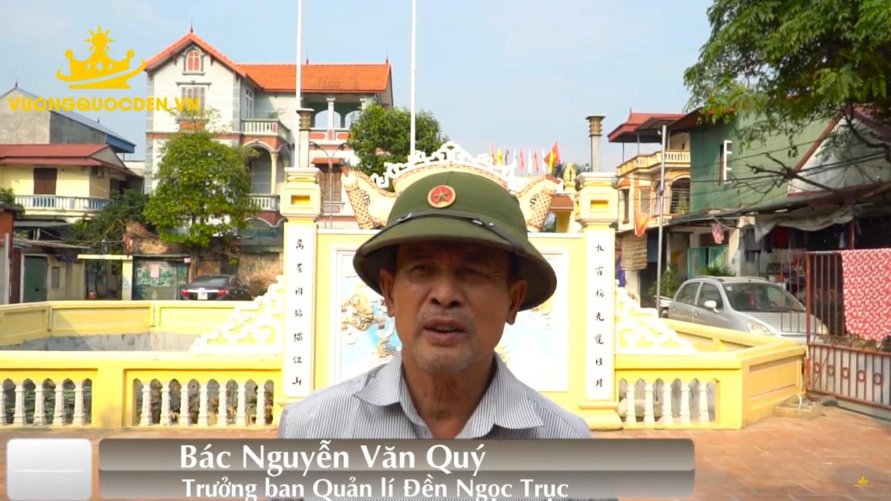 Bác Nguyễn Văn Quý chia sẻ cảm nhận về dịch vụ của Vương Quốc Đèn tại dự án đèn trụ sân vườn tại Đền Ngọc Trục - Đại Mỗ - Hà Nội