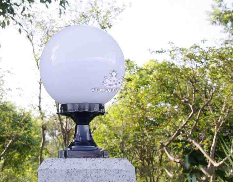 Các loại đèn trụ cổng tròn phổ biến hiện nay